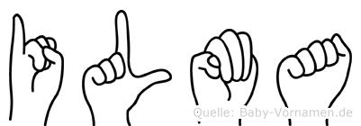 Ilma in Fingersprache für Gehörlose
