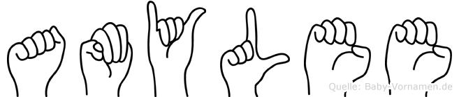 Amylee in Fingersprache für Gehörlose