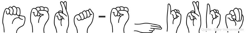 Esra-Shirin im Fingeralphabet der Deutschen Gebärdensprache