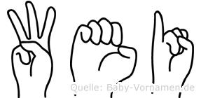 Wei in Fingersprache für Gehörlose