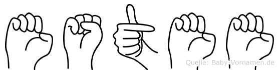 Estee im Fingeralphabet der Deutschen Gebärdensprache