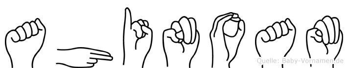 Ahinoam im Fingeralphabet der Deutschen Gebärdensprache