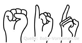 Sid im Fingeralphabet der Deutschen Gebärdensprache