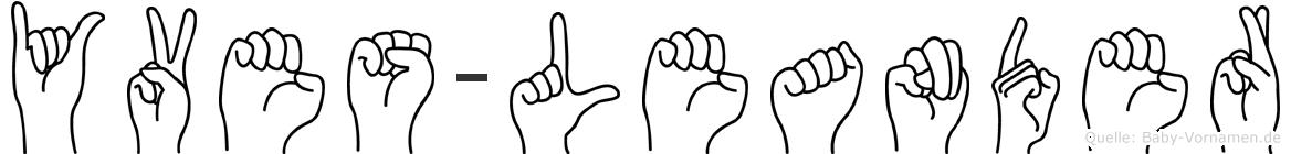Yves-Leander im Fingeralphabet der Deutschen Gebärdensprache