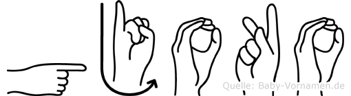 Gjoko in Fingersprache für Gehörlose