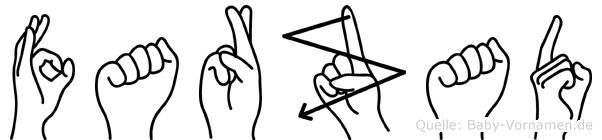 Farzad im Fingeralphabet der Deutschen Gebärdensprache