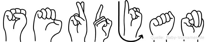 Serdjan in Fingersprache für Gehörlose