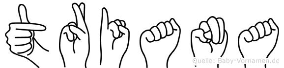 Triana im Fingeralphabet der Deutschen Gebärdensprache