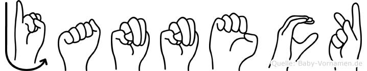 Janneck in Fingersprache für Gehörlose