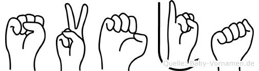 Sveja in Fingersprache für Gehörlose