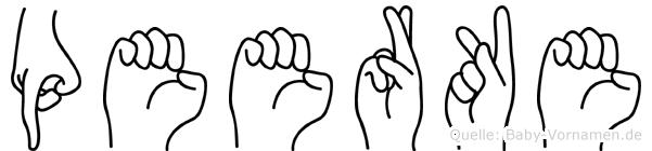 Peerke in Fingersprache für Gehörlose