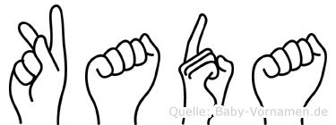 Kada in Fingersprache für Gehörlose