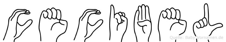 Cecibel im Fingeralphabet der Deutschen Gebärdensprache