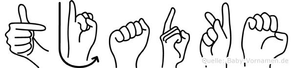 Tjadke in Fingersprache für Gehörlose