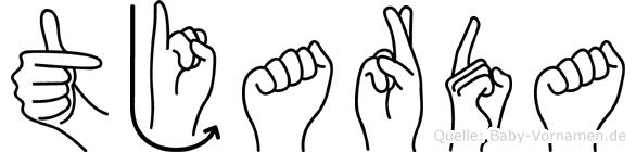 Tjarda in Fingersprache für Gehörlose