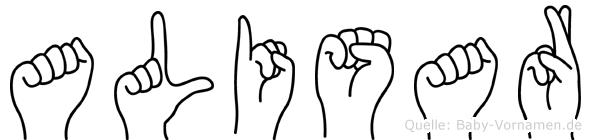 Alisar in Fingersprache für Gehörlose