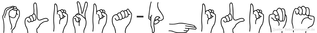 Olivia-Philine im Fingeralphabet der Deutschen Gebärdensprache