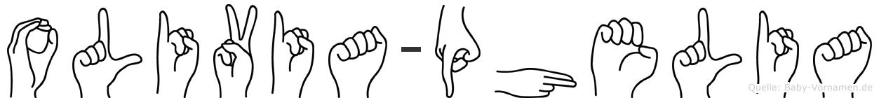 Olivia-Phelia im Fingeralphabet der Deutschen Gebärdensprache