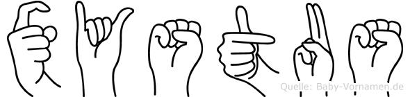 Xystus in Fingersprache für Gehörlose