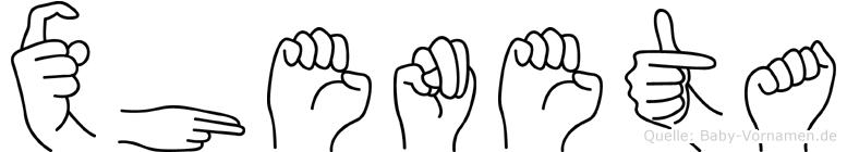 Xheneta in Fingersprache für Gehörlose