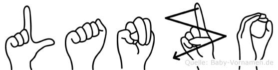 Lanzo im Fingeralphabet der Deutschen Gebärdensprache