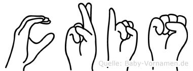 Cris in Fingersprache für Gehörlose