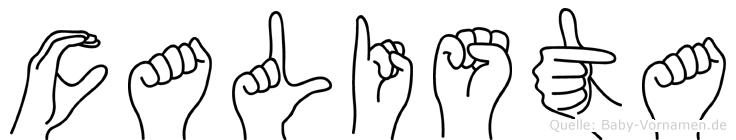 Calista in Fingersprache für Gehörlose
