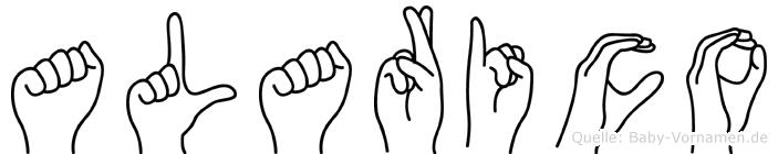 Alarico im Fingeralphabet der Deutschen Gebärdensprache