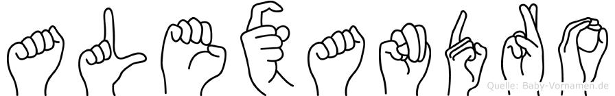 Alexandro in Fingersprache für Gehörlose