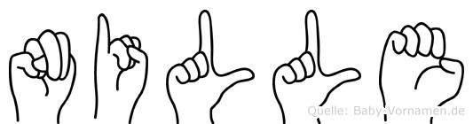 Nille im Fingeralphabet der Deutschen Gebärdensprache