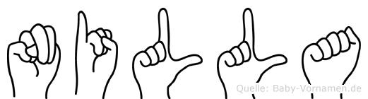 Nilla im Fingeralphabet der Deutschen Gebärdensprache