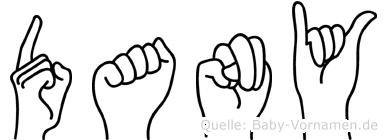 Dany in Fingersprache für Gehörlose
