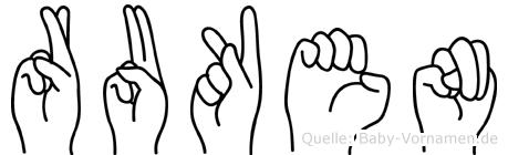 Ruken in Fingersprache für Gehörlose