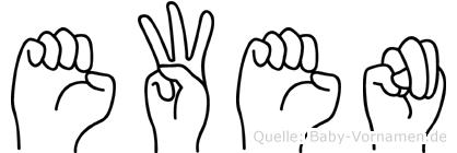 Ewen in Fingersprache für Gehörlose