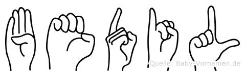 Bedil in Fingersprache für Gehörlose