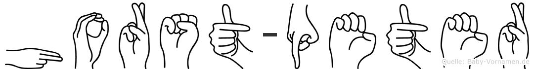 Horst-Peter im Fingeralphabet der Deutschen Gebärdensprache