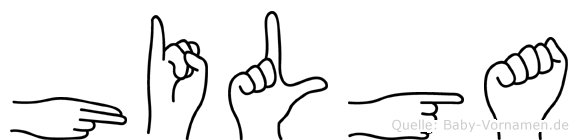 Hilga im Fingeralphabet der Deutschen Gebärdensprache