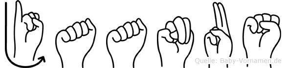 Jaanus im Fingeralphabet der Deutschen Gebärdensprache