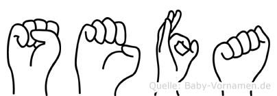 Sefa in Fingersprache für Gehörlose