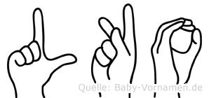 Lüko im Fingeralphabet der Deutschen Gebärdensprache
