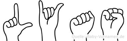 Lyas in Fingersprache für Gehörlose