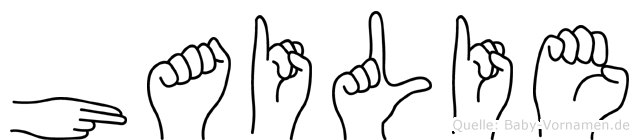 Hailie in Fingersprache für Gehörlose