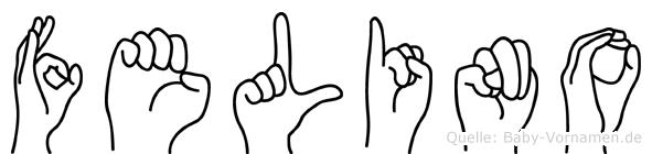 Felino im Fingeralphabet der Deutschen Gebärdensprache