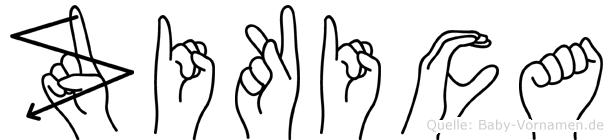 Zikica in Fingersprache für Gehörlose