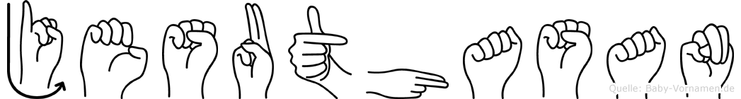 Jesuthasan in Fingersprache für Gehörlose