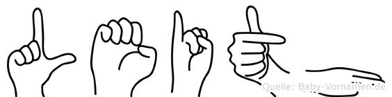 Leith im Fingeralphabet der Deutschen Gebärdensprache