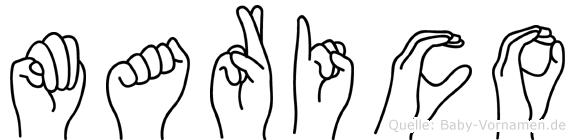 Marico im Fingeralphabet der Deutschen Gebärdensprache