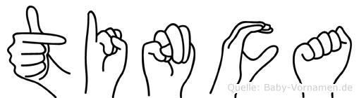 Tinca im Fingeralphabet der Deutschen Gebärdensprache