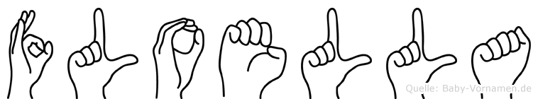 Floella im Fingeralphabet der Deutschen Gebärdensprache