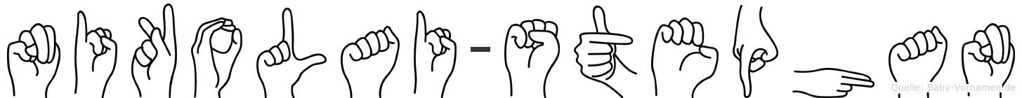 Nikolai-Stephan im Fingeralphabet der Deutschen Gebärdensprache